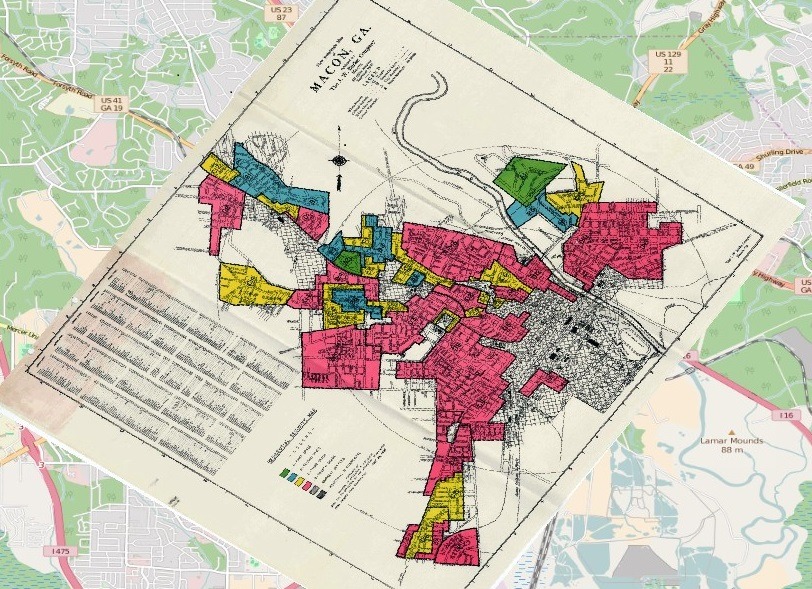 Redlining Macon Ella Howard - Georgia map macon