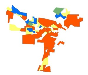Macon redlining map as polygons