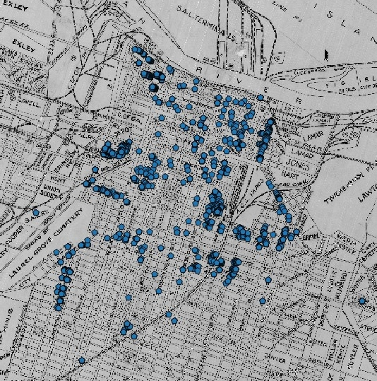 Mapping on a Historic Map: Savannah 1900 - Ella Howard on