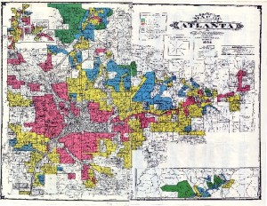 Atlanta redlining map