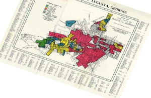 Redlining Augusta map from National Archives